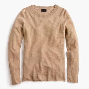 J crew collection Italian cashmere tan sweater